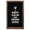 Quadro Porta Rolhas Keep Calm And Drink Wine P