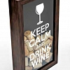 Quadro Porta Rolhas Keep Calm And Drink Wine 50 cm