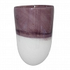 Vaso Purple White Vidro  28 cm