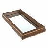Bandeja Madeira Espelho Prateada 35x17x4cm Woodart
