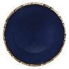 Prato Raso Bambu Azul 27cm em Cerâmica