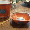 Bowl porcelana coral/turquesa