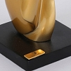 Escultura Foglio Dourada 42 cm Bia Doria