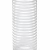 Vaso Cilíndrico Listras Branco em Vidro  30 cm