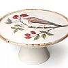 Porta Bolo Pássaro em Cerâmica 17 x 8 cm altura