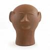 Escultura Cabeça de Cerâmica 15 cm - Mestra Cida Lima