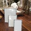 Porta Retrato em aço prateado bambu 10x15