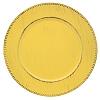 Sousplat Resina Bolinha Amarelo 33 cm