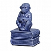 Escultura Macaco Livro Cerâmica 12x19cm