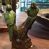 Passaro cerâmica verde