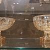Centro de mesa cristal ambar c/pé diamant