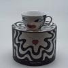 Xícara Kiss em Cerâmica com Esmaltação Ritzenhoff Alemã - Coleção Amore Mio