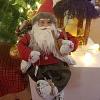 Papai Noel Sentado Celeiro VM/CZ 45cm