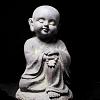 Buda Contemplando  em Pedra Vulcânica 41 cm