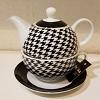 Bule Chá Porcelana Kit 2 Peças  11 x 18 cm