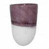 Vaso Purple White Vidro  28 cm