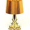 Luminária Poláris Dourada em Policarbonato  73 x 38 x 38 cm