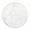 Prato Raso Carrara 28 cm Porcelana com Ouro Vista Alegre