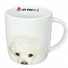 Caneca I Love My Poodle 340 ml em Porcelana