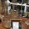 Porta retrato dourado com vidro espelhado