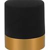 Tampa Champagne Dourado e Preto 4x4x6cm