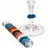 Marcador de Taça Silicone Color 1,2 cm 12 Peças
