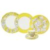 Aparelho de Jantar Country Toile Yellow L´Hermitage em Porcelana 30 Peças