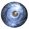 Fruteira Rasa Azul 55 cm Regina Medeiros