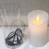 Vela Cintilante Recarregável USB em Parafina 12,5 cm