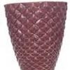 Vaso Diamante Vinho Cerâmica  22x25cm
