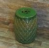 Garden Seat Matelasse Verde Cerâmica 45 cm