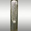 Lamparina Cilindro Bolhas 8x40cm Cristal Soprado Jacqueline Terpins