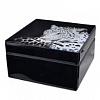 Caixa Joias Cheetah Madeira e Vidro 15 x 15 x 8 cm altura