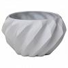 Chachepot Plissan Geométrico 22x13cm Porcelana Holaria
