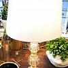 Abajour Murano Bolas Ouro com Cúpula 50x87cm