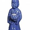 Buda com Porta Vela Cerâmica 14x22cm